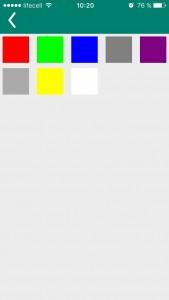 Settings - change font color